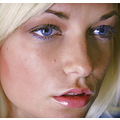 female model portrait close up blonde