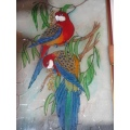 glass painting birds divya love