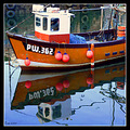 mevagissey cornwall boat fishing river sea reflection