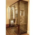 12 mm clear tempered frameless glass wine cellar