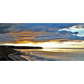 whitby sunset gold bay north sea landscape summer light