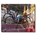 myanmar burma pindaya entrance decoration spider burmx pindx decox