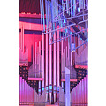 organ pipes sunlight stained glass cathedral