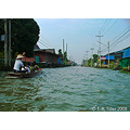 One of the streets behind the floating market.