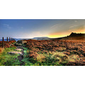 'Just after Sunrise': Above Hathersage in the Derbyshire Peak District, a few minutes walk from w...