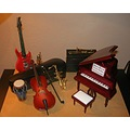 doll house miniature music instruments 1 12 scale