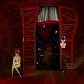 imagination surreal abstract art female mannequins series room red keitology