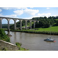 river bridge boats calstock