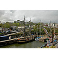 Cornwall Charlestown Harbour Ship UK Moored Sail Sea Coast