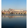 Prague city castle bridge panorama Moldau Bohemia