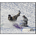 stlouis missouri us usa landscape snow fun sled wipeout 012809 2009