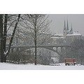 winter snow luxembourg city