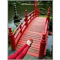 nature architecture red shoes bridge japan