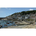 9917 Manipulated Cornwall Mousehole UK Sea Coast Harbour Boat
