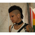 candid brighton pride woman haircut mohican