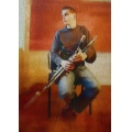 Irish Uilleann Piper.