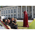 Occupy Documenta Kassel, contemporary art public show, Die Waechter der Zeit, Time guards by Manf...