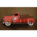 old pick up truck red