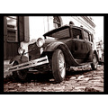 Car antique classic bw colonia