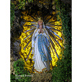 A statue of Our Lady of Lourdes in Floriana, Malta.