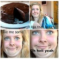 Lucy Rose Burns Cake Double Chin Funny Pictures Attractive Girl Hell Yeah