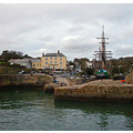 Water Harbour Cornwall Ship Sail Boat Mast Sea