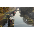 canal boats landscape winter