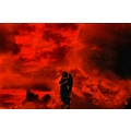 Solemn_Angel_at_Armageddon Red clouds angels sky end_of_the_world wrath