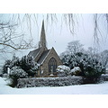 church snow scenic