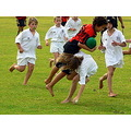 ballgame game tackle girl rugby