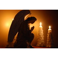 candles angel statue
