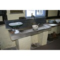 The stone sink in the kitchen - 18th century addition (the modern bit!) Cwmmau Farmhouse, Herefor...