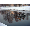 snow ice stream reflections winter