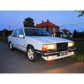 My 1985 Volvo polar white reflex Kvidinge evening September 2010 Skane Sweden