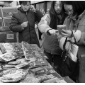 urban street nyc chinatown vendor bw city