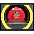 roundfriday play tunnel children park red yellow