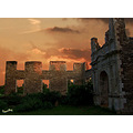 Elstow abbey ruins bedford architecture evening sunset