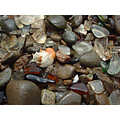 Glass and stones - at Glass Beach