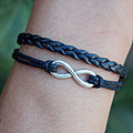 bracelet jewelry charm braided leather leather women men friendship personalized