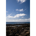 lanzarote loszocos costateguise beach sea sky clouds rocks
