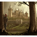 Chateau photomontage trees sunshine castle fantasy mattijn cat