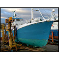 blue boat ship fishing dock repair industry colour vessel faroe