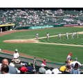 McAfee Stadium, home park of the Oakland Athletics.