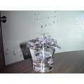 Quarter drops action shotglass glass drop water