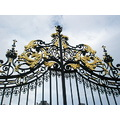 Gates ornate blackandgold metal