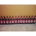 Cruzcampo beer bottles row