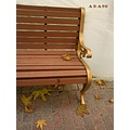 bench gold yellow brown autumn