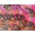 Sasparella Girl Pink Hair Portrait Multi Image Effects Kaleidoscope