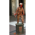 SANTIAGO   CITY TOUR LIVING FIREMAN SCULPTURE