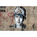 london graffiti stencil art banksy soldier